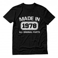 Made In 1978 All Original Parts Birthday