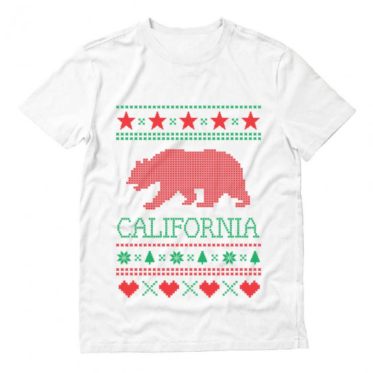 California Republic Bear Ugly Christmas Sweater