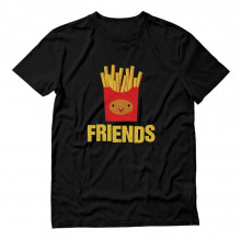 Fries & Burger Junk-Food Best Friends BFF Funny Matching Set