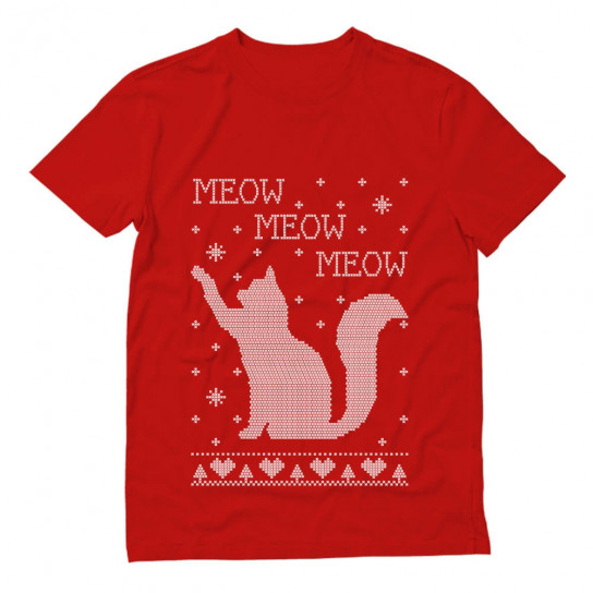 Xmas Apparel - Ugly Christmas Sweater Cat Meow Purr