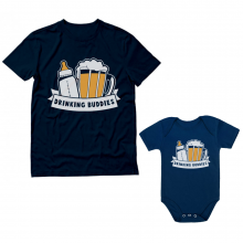 Drinking Buddies Funny Daddy and Me Set