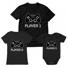 Player 1 Cute Gamer  Family Set