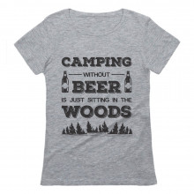 Camping Beer Sitting In The Woods Camper