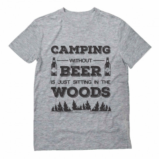 Camping Without Beer Just Sitting In The Woods
