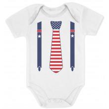 4th of July Stars & Stripes Tie & Suspenders