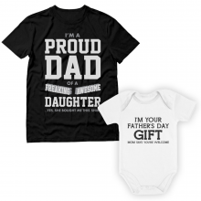 Proud Dad Of A Freaking Awesome Daughter set