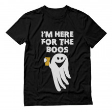 I'm Here For The Booze Boo Ghost Funny Halloween