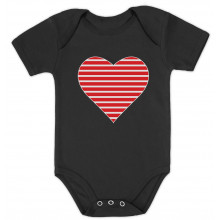 Red Striped Heart Love - Valentine's Day Gift Cute Babies