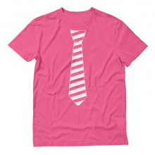 Striped Tie for Pink Day
