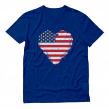 American Heart Flag Love USA