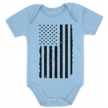 Big Black U.S Flag 4th of July Babies