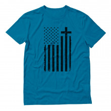 Black USA Cross Flag