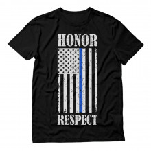 Honor & Respect American Flag Thin Blue Line