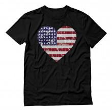 USA Heart Flag Patriotic