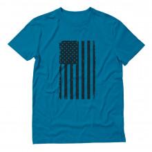 Vintage Distressed USA Flag - Big Black American Flag