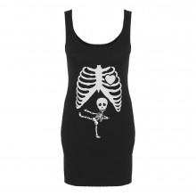 Pregnant Skeleton Ninja Baby X-Ray Funny Pregnancy
