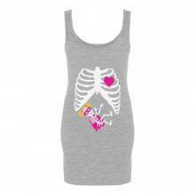 Super Hero Baby Girl Pregnancy Skeleton