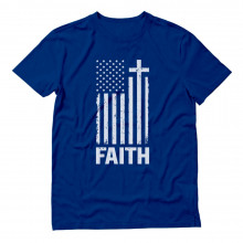 Christian Distressed White USA Flag
