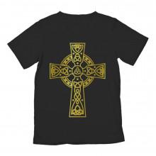Gothic Celtic Cross Golden Graphic Design