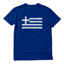 Retro Greece Flag Vintage Greek Pride