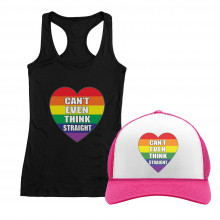 Can\'t Even Think Straight Gay Pride Month T-Shirt and Cap Set