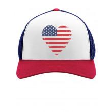 American Heart Flag USA Vintage Flag Cap