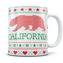 Cali Bear Ugly Christmas Mug
