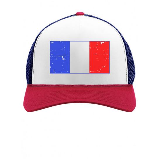 Retro France Flag Vintage French