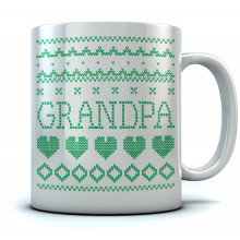 Grandpa Ugly Christmas Mug