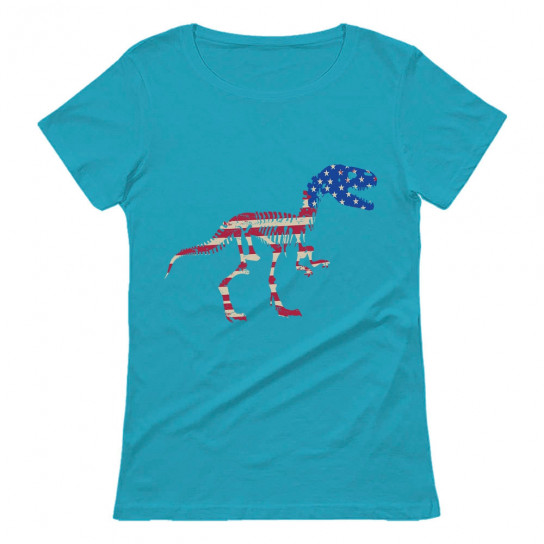 American Flag USA T-Rex Dinosaur