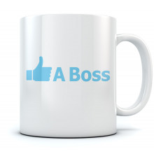Like A Boss Ceramic Coffee Mug