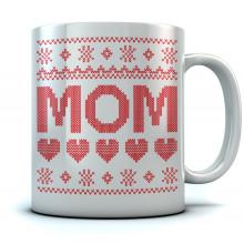 MOM Ugly Christmas Mug