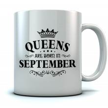 QUEENS Are Born In September Birthday Gift Ceramic