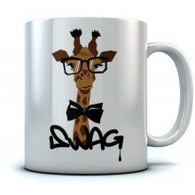 Swag - Hipster Giraffe Tea Cup - Cool Gift Idea Sturdy Ceramic