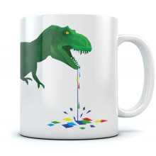 T-Rex Dripping Colorful Polygons - Trex Drooling
