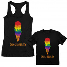 Gay & Lesbian Ice Cream Pride Flag Parent and Child Set