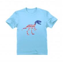 USA T-Rex Dinosaur American Flag