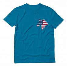 American Unicorn Pocket Print USA Flag