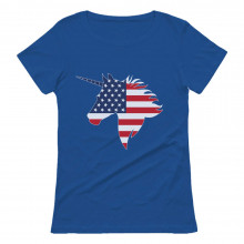 American Unicorn USA Flag