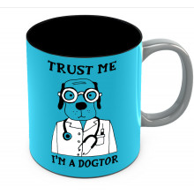 Trust Me I'm A Dogtor Funny Coffee