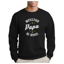 Papa Au Monde Cadeau pour Papa Anniversaire Sweatshirt Homme