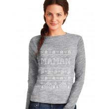Shirt Maman Famille Assorti Noel T-Shirt Manches Longues Femme