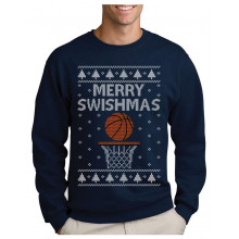 Green Turtle T-Shirts Pull Noel Basketball Chrismtas Sweater Merry Swishmas Sweatshirt Homme