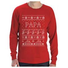 Green Turtle T-Shirts T Shirt de Noel Cadeau Papa Famille Assortis pour Noel T-Shirt Manches Longues Homme Large Bleu