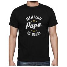 Meilleur Papa Au Monde Cadeau pour Papa Anniversaire T-Shirt Homme Large Grus Foncé