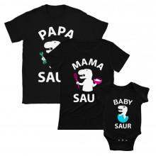 Papa Saur, Mama Saur, Bébé Saur - Cadeaux Set familiale Mam Noir L/Dad Noir L/BB Noir