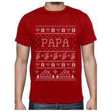 T Shirt de Noel Cadeau Papa Famille Assortis pour Noel T-Shirt Homme