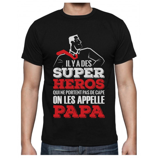 Green Turtle T-Shirts Super Papa Mon Hero Cadeau pour Papa Fete des Peres T-Shirt Homme
