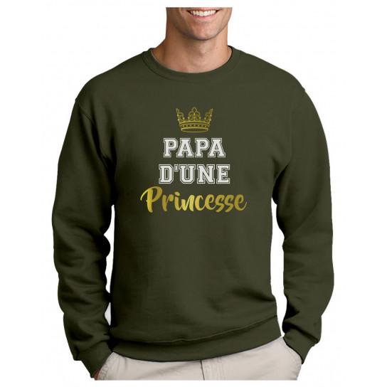 Green Turtle T-Shirts Papa d'une Princesse Cadeau Père et Fille Sweatshirt Homme
