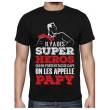 Papy Super Héros Qui ne Portent Pas de Cape T-Shirt Homme